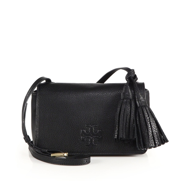 eb282a7c3a422 Tory Burch Thea Mini Leather Tassel Crossbody Bag